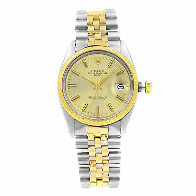 Rolex Date Gold Steel Champagne Dial  Automatic Mens Watch 1500