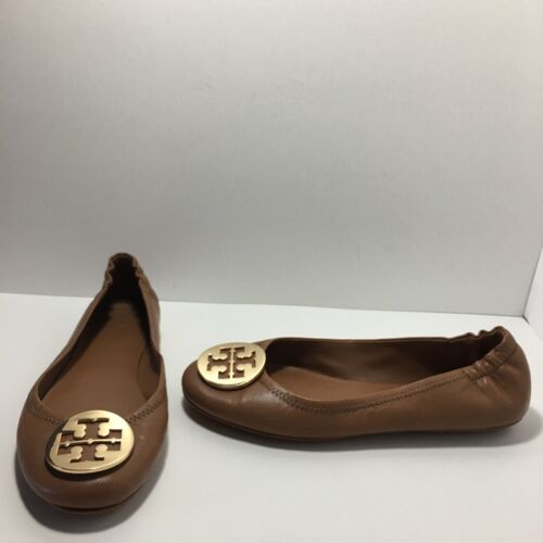 79e8392b121f8f UPC 190041195022 product image for Tory Burch Minnie Travel Ballet Flat Tan  Leather Metal Logo Shoes ...