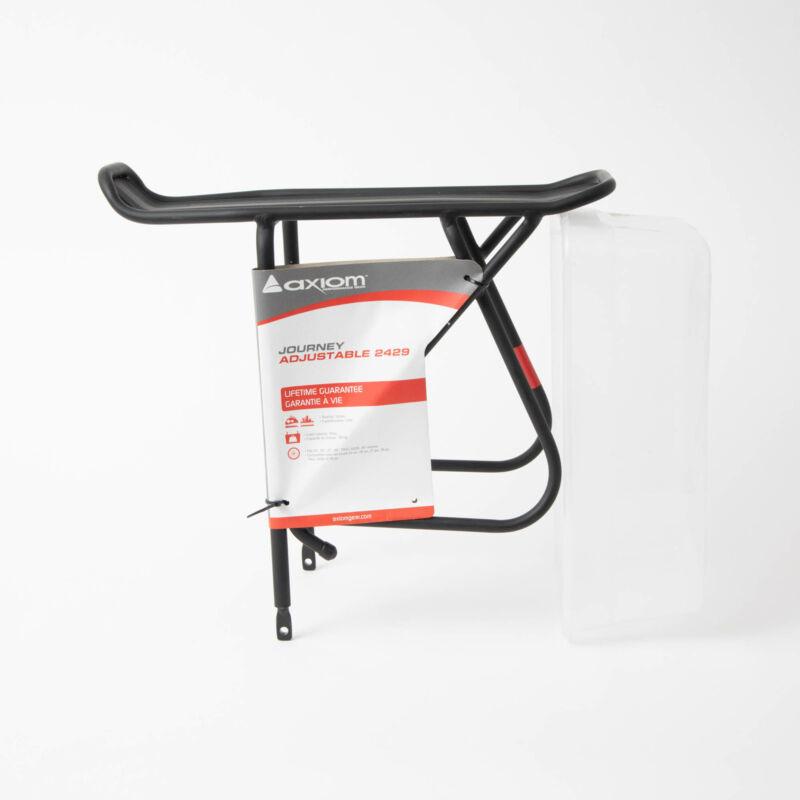 Axiom Journey Adjustable Rear Rack Black Bicycle Bike Aluminum