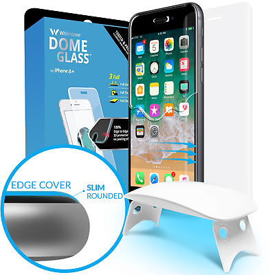 Whitestone Tempered Glass Screen Protector FULL COVERAGE for iPhone 8 Plus / 7+