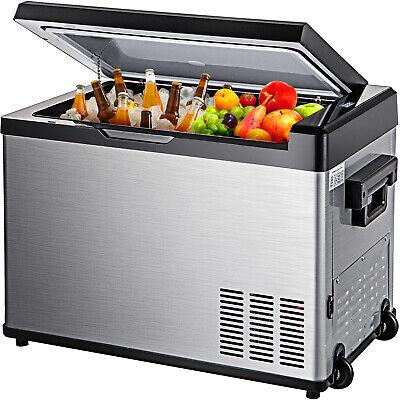 VEVOR 50L Portable Travel Car Refrigerator Freezer Truck Fridge Camping 12V 24V