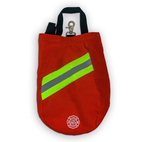 SCBA Mask Bag, 2020 Deluxe Version, Red, Firefighter, ISI, EMT, Fire, Respirator