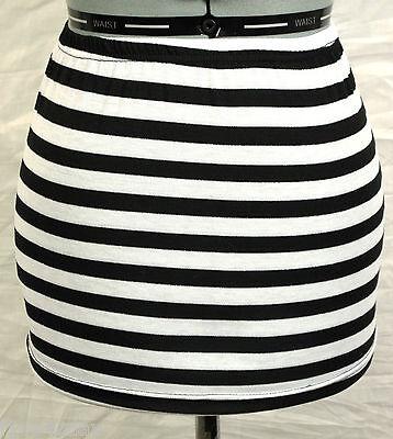 Black & White Stripe Stretch Mini Skirt Halloween Costume Striped Inmate Prison - Striped Skirt Halloween Costume