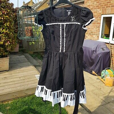 PIANO DRESS WITH TULLE UNDERSKIRT HOT TOPIC KAWAII GOTH COSPLAY