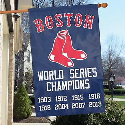 Red Sox Mlb Applique - Boston Red Sox Champions MLB - Applique Banner Flag - Free Shipping