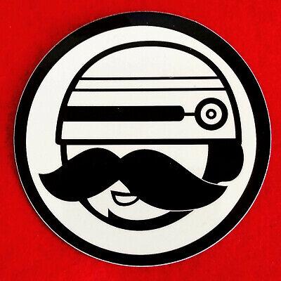RoboCop Roboh Cop Sticker Decal 🤖 Robot Moustache Face Ray Gun Robyn Street Art - Gunslinger Mustache