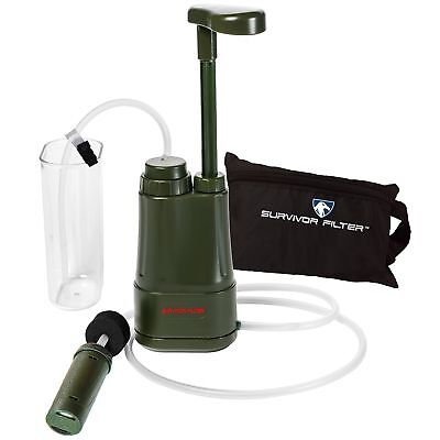 Survivor Filter PRO 0.01 Micron Water Purifier Pump. Emergency and Camping