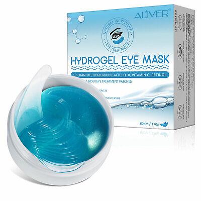 60pcs Under Eye Hydrogel Hyaluronic & Retinol Mask Patches Dark Circle Wrinkles