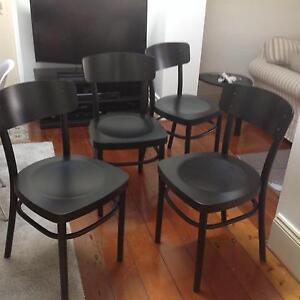 IKEA black dining chairs x 4 Croydon Burwood Area Preview