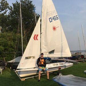 1999 Laser II Sailboat with Trailer and Dolly!