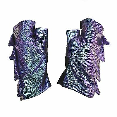 Costume Dragon Gloves Iridescent Purple Scales Fantasy Halloween Adult Child](Adult Dragon Costume)