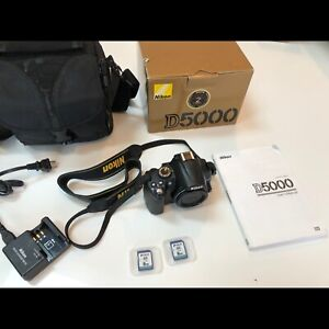 Nikon D5000 DSLR Camera w/ 2 Lenses