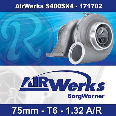 Borg Warner AirWerks S400SX4 Turbo-75mm-T6-Twin Scroll-1.32 A/R 500-1050hp-