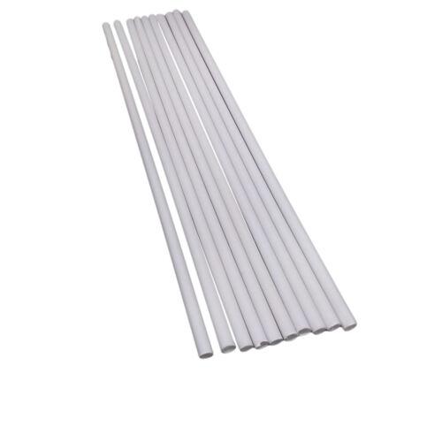 US Stock 10x OD 5mm x 250mm ABS Styrene Plastic Round Tube Pipe Diameter White