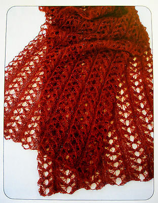 GORGEOUS LACE STARLIGHT STOLE to KNIT in LACE or FINGERING WEIGHT YARN
