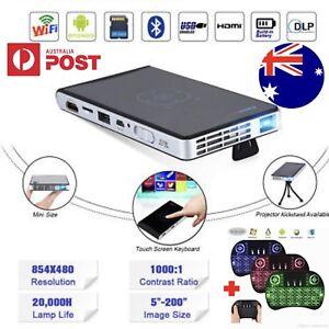 DLP MINI HD ANDROID TV PROJECTOR HOME THEATRE 1080P HD 5G WIFI QUAD Hallam Casey Area Preview