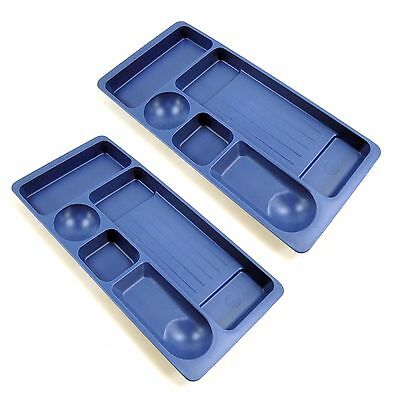 2pcs Min Desk Drawer Organizer Tray Pen Office Stationery Desk Accessories Blue
