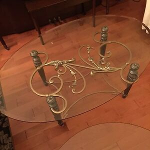 Glass coffee table set of 3