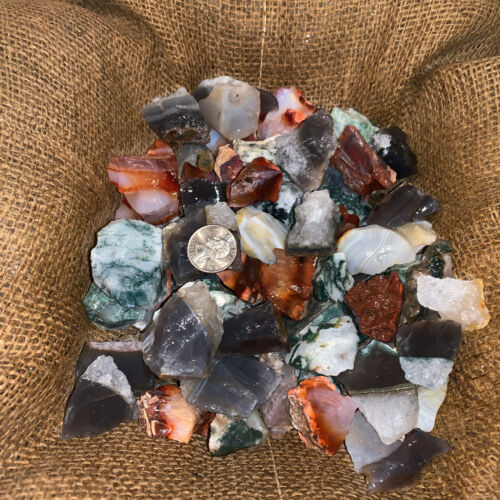 3000 Carat Lots of Unsearched Natural MIXED Agate Rough+ A FREE Faceted gemstone