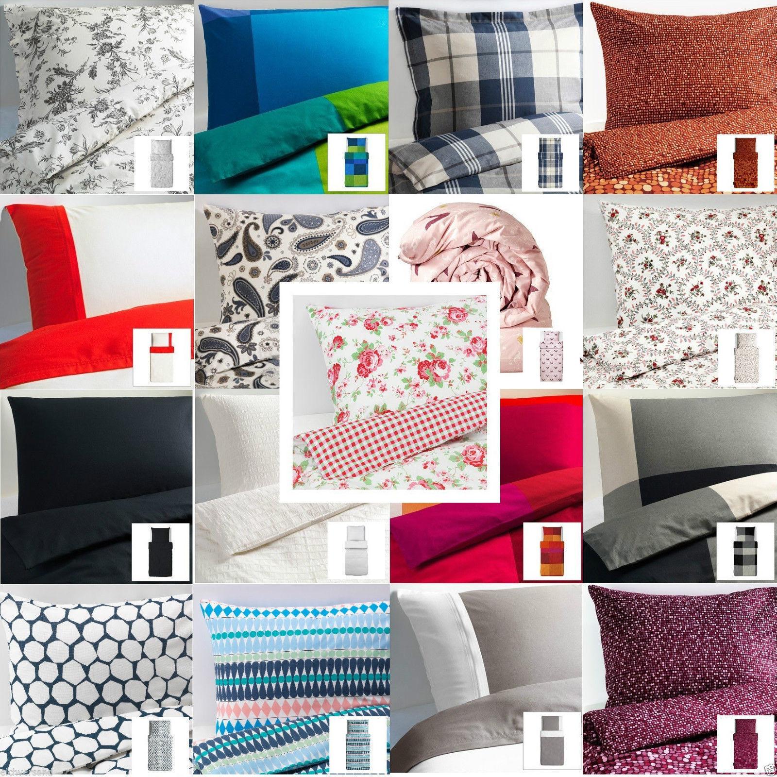 Ikea Bettwäscheset Baumwolle Div Ausführungen