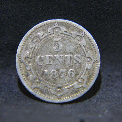 1876 H Canada / Newfoundland. 5 Cents - Fine