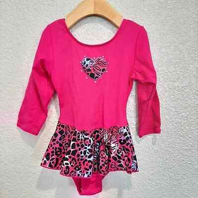 Pink Leotard w/Leopard Pink Skirt Size 5/6