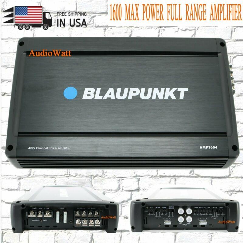 BLAUPUNKT 1600W CAR AUDIO 4 CHANNEL AMP AMPLIFIER  MAX PEAK POWER AMP1604