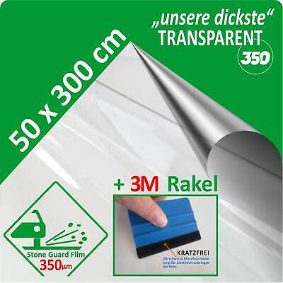 Lackschutzfolie transparent klar durchsichtig 350 µm 50 x 300 cm + Profirakel