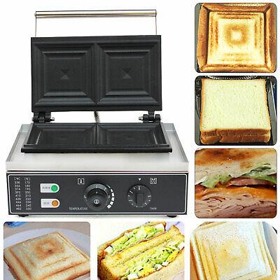 1500w Commercial Electric 2 Slice Sandwich Toaster Press Maker Machine Nonstick
