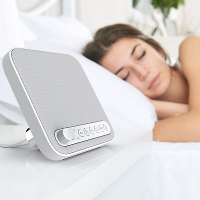 Pure Enrichment Wave Premium Sleep Therapy Sound Machine White - 6 Soothing A...