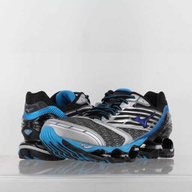 official photos 7c57d 2b5dc ... cheap mens mizuno wave prophecy 5 running shoes silver blue gray .  6e718 f30c0