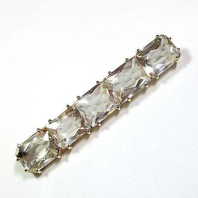 826 - Ältere Brosche aus Gelbgold 585 mit Bergkristall -1950-