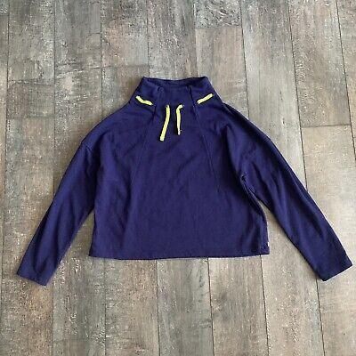Fabletics Women's Dominique Pullover Sweatshirt Demi Lovato Crop Blue Green S