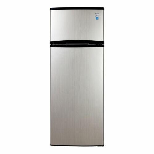 Avanti 7.4 Cu. Ft Top Freezer Apartment Refrigerator in Black/Platinum