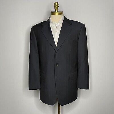 Pal Zileri Mens Suit 3 Button Wool Solid Black Size 42R (52 IT) 31W