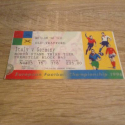 Euro's Italy v Germany 19.6.1996 Match Ticket