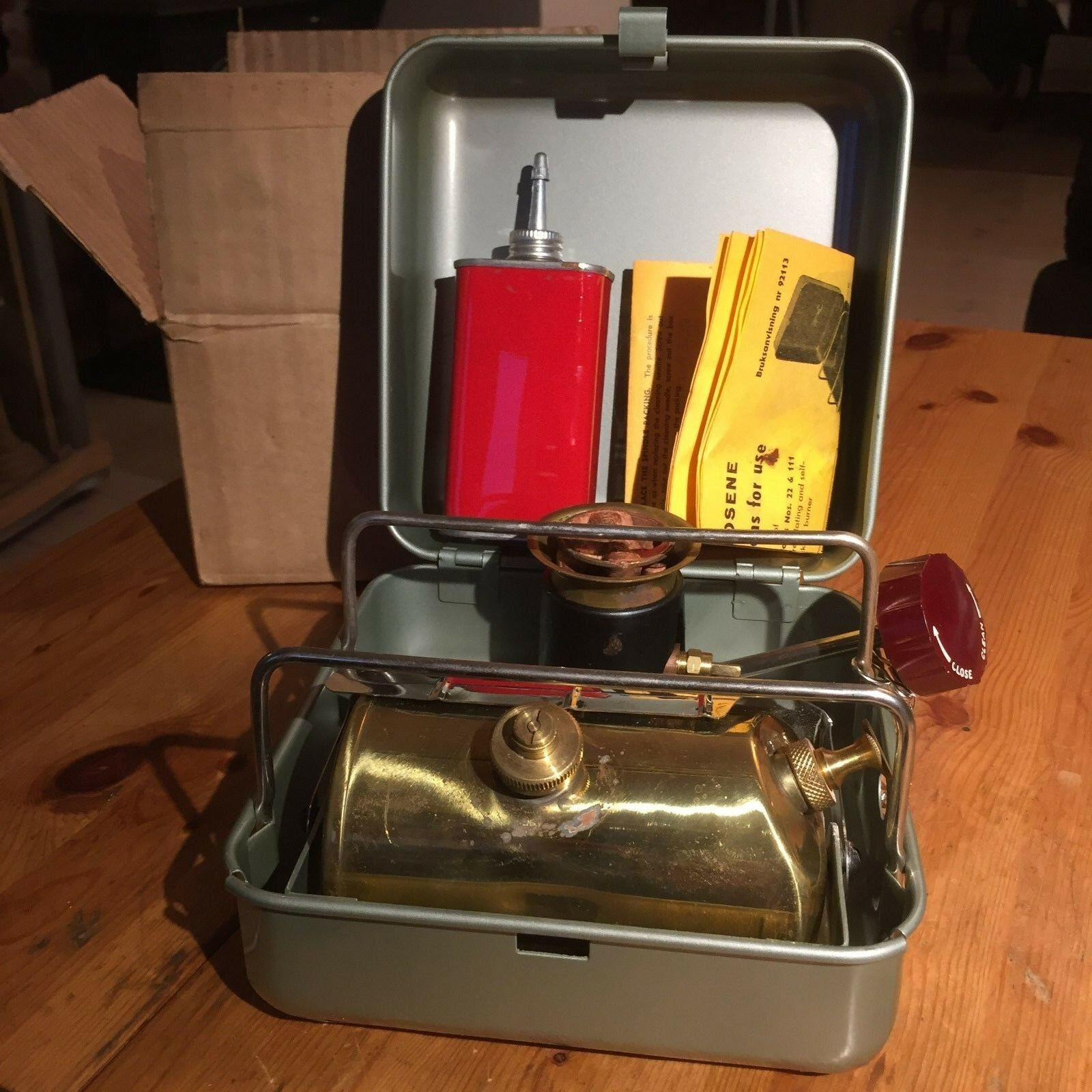 NEW original vintage OPTIMUS HIKER no111 primus stove 70th,HIGH EFFECTIVE Roarer