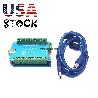 Tc50m 50khz Cnc Usb Mach3 Motion Control Board Driver 6 Axis Card Controller Usa
