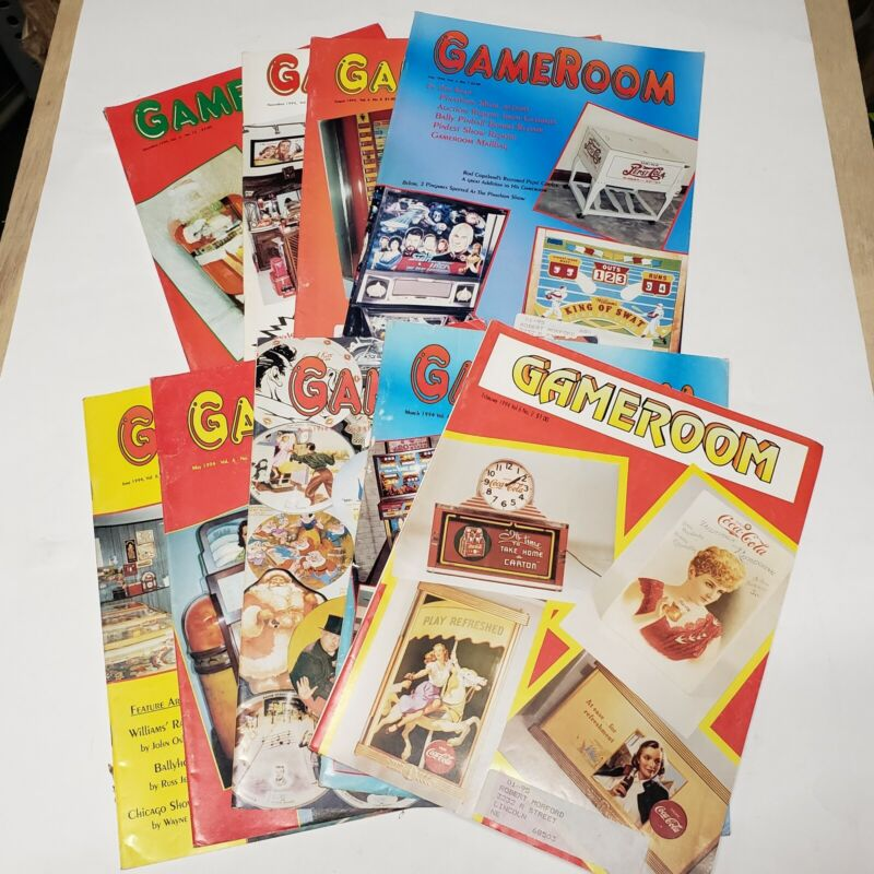 GAMEROOM MAGAZINE 9 Issues Year 1994 Pinball Jukebox Slot Machine Video Arcade