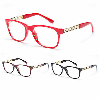 Reading Glass Chain Link Design Womens Fashion Classic Retro Reader Eyewear