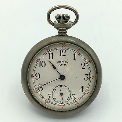 1915-1920 Ingersoll Junior Open Face Pocket Watch 12s #29602604 Running