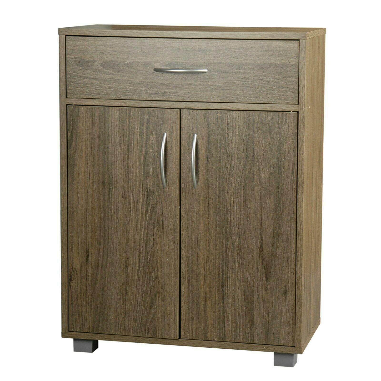 Oak Wooden Free Standing Cabinet Living Room Bedroom Shelves Drawer Storage | EBay