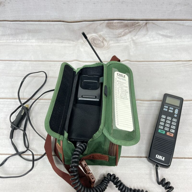 Oki Phones VINTAGE CELL PHONE MOBILE PHONE with Case For CAR Not Tested
