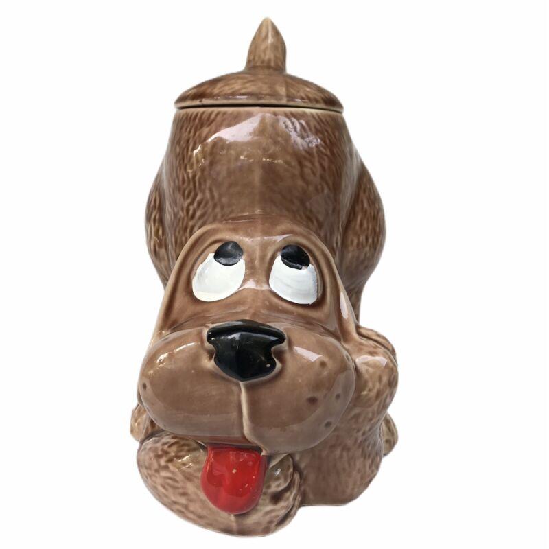 VintageMcCoy 0272 Thinking Puppy Hound Dog Cookie Jar Canister Treats