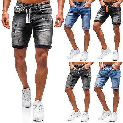 Jeans (Kurzhose Jeans Shorts Freizeit Denim Bermudas Motiv Herren Mix BOLF 7G7 Classic)