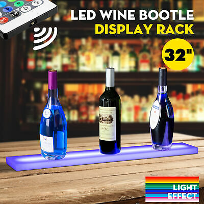 32 Led Lighted Back Bar Liquor Display Shelf Wine Bottle Stand Rack W 44key Rc