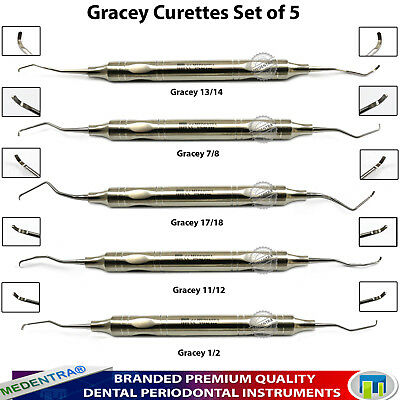 Universal Periodontal Gracey Curettes 10mm Handle Root Canal Cavity Scalers Lab