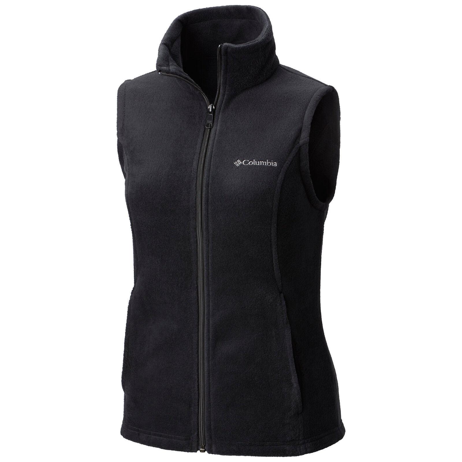 """New Womens Columbia """"Benton Springs"""" Full Zip Fleece Vest XS"""