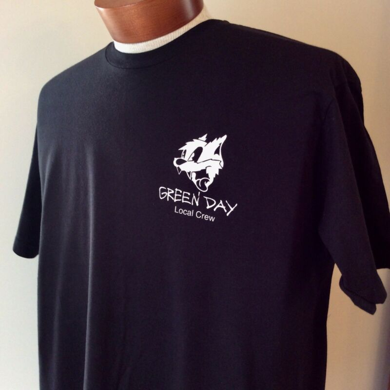 Rare Green Day Revolution Radio Local Crew T Shirt Black XL New Never Worn