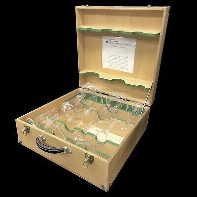 Vintage Sga Scientific Glass 6 Piece Flask Set Laboratory Glassware Wcase